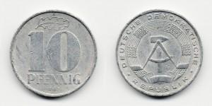 10 пфеннигов 1967 года А