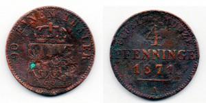 4 пфеннинга 1871 года