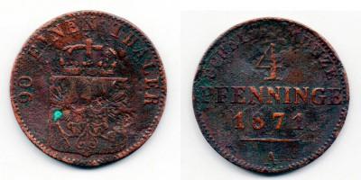 4 pfenning 1871