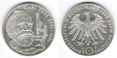 10 марок 1988 год F