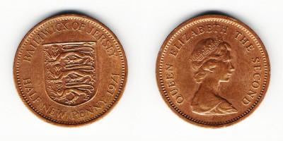 1/2 новый пенни 1971 года