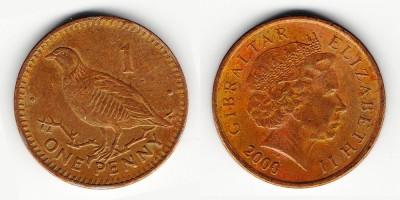 1 пенни 2000 года