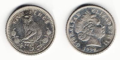 5 пенсов 1999 года