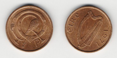 1/2 penny 1971