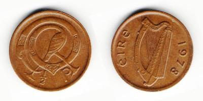 1/2 penny 1978