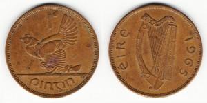 1 пенни 1965 года