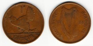 1 пенни 1928 года