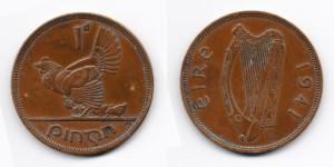 1 пенни 1941 года