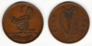 1 пенни 1942 года