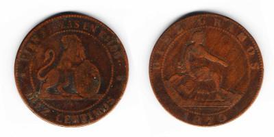 10 сентимо 1870 года