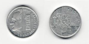 1 песета 1997 года