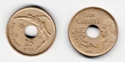25 pesetas 1991