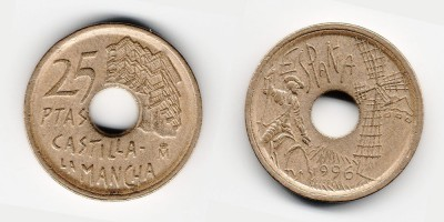 25 pesetas 1996