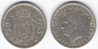 50 pesetas 1983