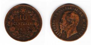 10 чентезимо 1867 года Т