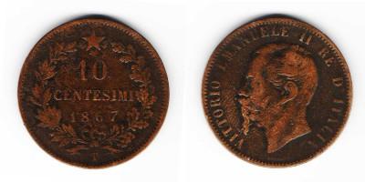 10 centesimi 1867 T