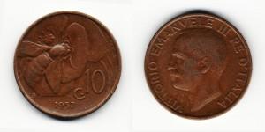 10 чентезимо 1937 года