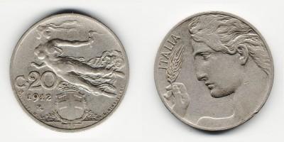 20 centesimi 1912