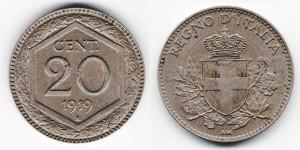 20 чентезимо 1919 года