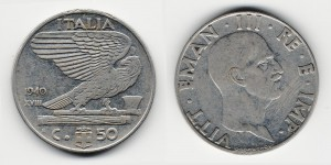 50 чентезимо 1940 года