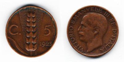 5 centesimi 1923
