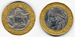 1000 лир 1998 года