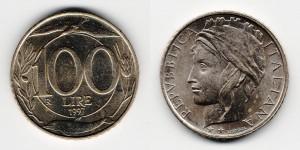 100 лир 1997 года