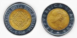 500 лир 1993 года