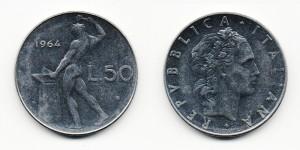 50 лир 1964 года