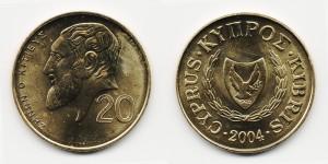 20 центов 2004 года