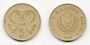 5 центов 1985 года