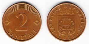 2 сантима 2000 года