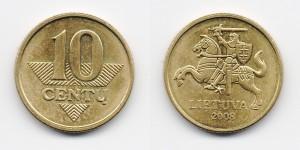 10 центов 2008 года