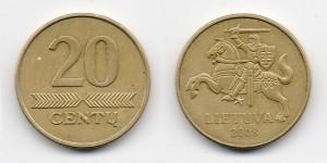 20 центов 2008 года
