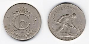 1 франк 1957 года