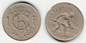 1 франк 1962 года