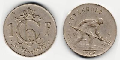 1 franc 1962