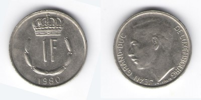 1 franc 1980