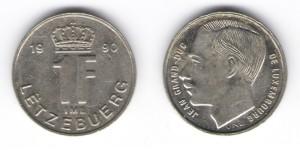 1 франк 1990 года