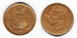 20 франков 1981 года