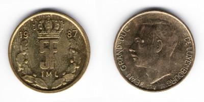 5 francs 1987