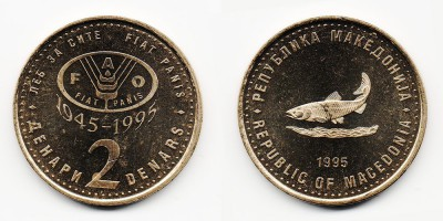 2 денара 1995 года
