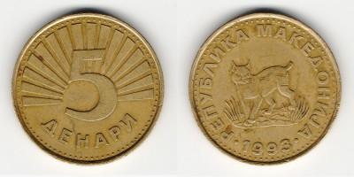 5 денаров 1993 года