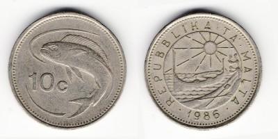 10 центов 1986 года