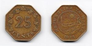 25 центов 1975 года