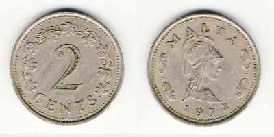 2 cents 1972