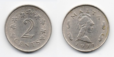 2 cents 1977