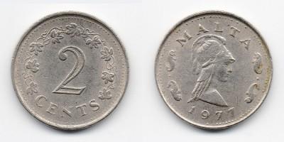 2 цента 1977 года