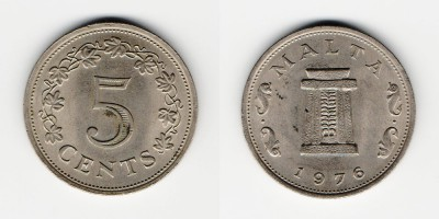 5 cents 1976