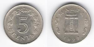 5 центов 1977 года